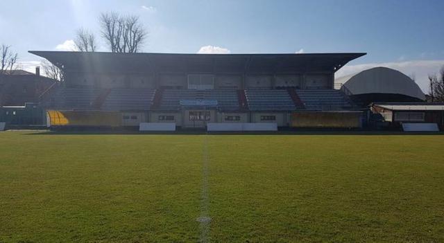 """Lo stadio """"Zucchini"""" di Budrio che ospita le gare casalinghe del Mezzolara"""