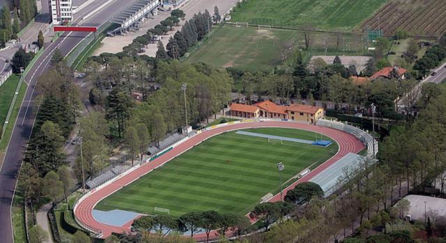 """Lo stadio """"Romeo Galli"""" di Imola"""