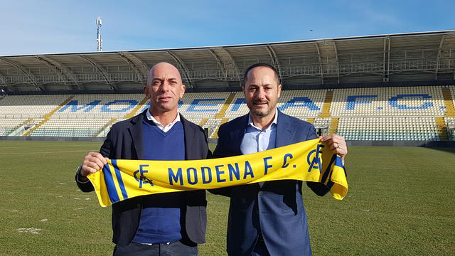 Bollini assieme al presidente Salerno