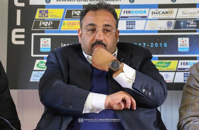 Gianfranco Mancini, allenatore del Bisceglie con Pino Alberga - Foto Emmanuele Mastrodonato