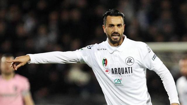 Raffaele Palladino, attaccante dello Spezia - Foto acspezia.com
