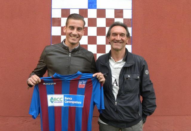 Daniele Crimaldi con il ds Mauro Faversani