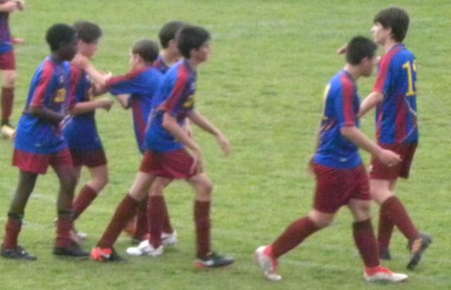 L'esultanza dopo il gol di Rinaldi