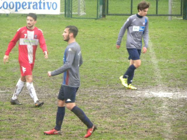 Edoardo Maggi con la maglia dell'Accademia Pavese contro Odi e Gazzaneo