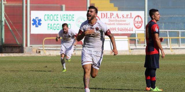 Ciro Favetta, attaccante della Sarnese - Foto La Città di Salerno
