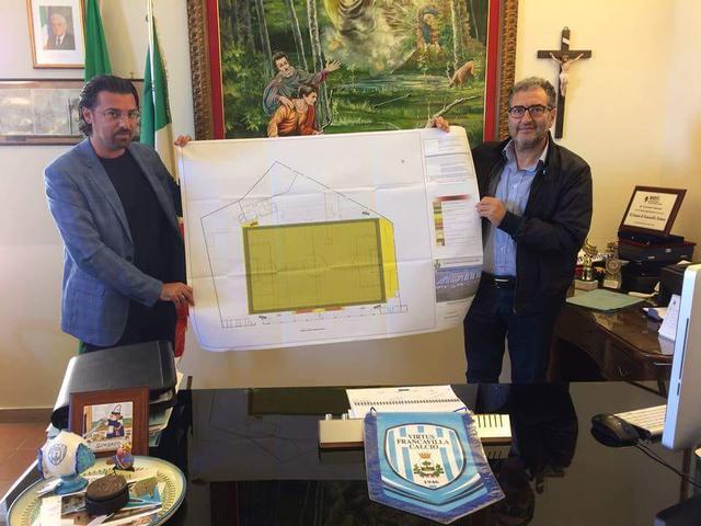 Una foto del 2017, il Presidente Magrì e l'allora sindaco Maurizio Bruno