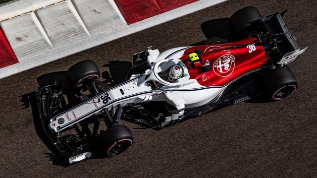 Giovinazzi con la sua Alfa Romeo C38, foto www.formula1.com
