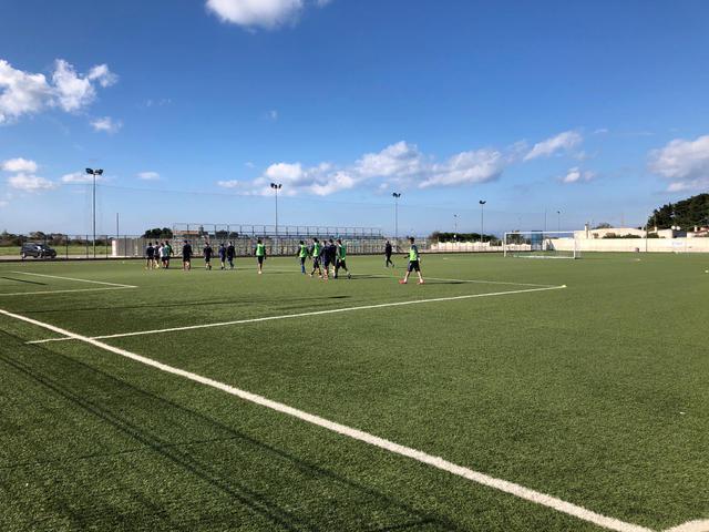 I calciatori del Brindisi in allenamento - FOTO BRINDISIMAGAZINE.IT