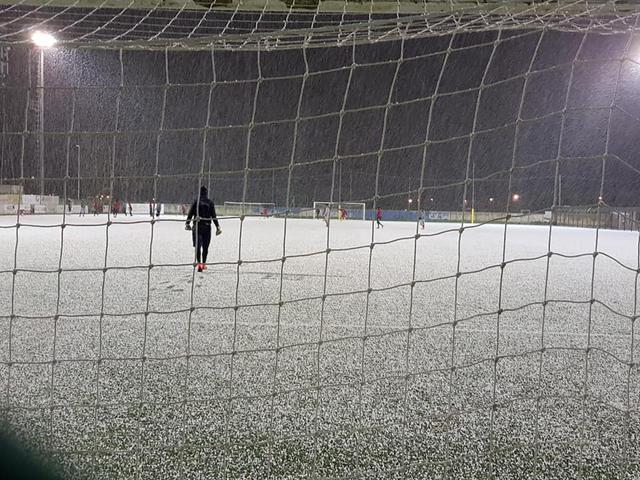 Il campo di Otranto nella giornata di oggi - foto ufficiale Otranto Calcio