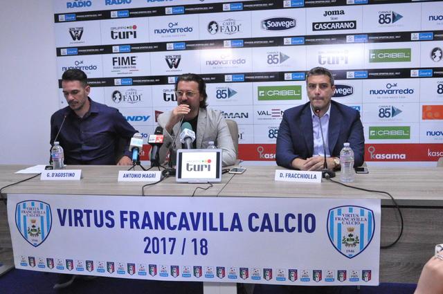 D'Agostino e Fracchiolla con il Presidente Magrì ai tempi della Virtus Francavilla