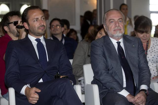 Aurelio e Luigi De Laurentiis - Foto Ansa