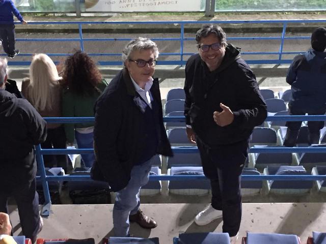 Il Sindaco di Ceglie Messapica Luigi Caroli e il vicesindaco Angelo Palmisano al Fanuzzi - foto Brindisimagazine.it