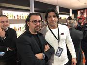 Il Presidente del Francavilla Magrì e il ds Mariano Fernandez a Milano - foto brindisimagazine.it